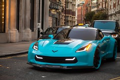 WideBody C7 (SikanderKPhotography) Tags: summer london cars chevrolet stingray knightsbridge arab custom corvette supercar widebody c7 forgiato