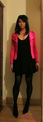 Nobody Puts Maja in the Corner! (MissMajaRyan) Tags: powershoulderblazer pink pinkblazer