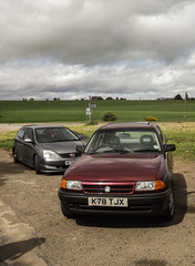 On route to the big field! (David Kedens) Tags: honda scotland scenery civic astra vauxhall typer ep3 rota astrals mk3astra