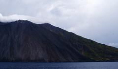 stromboli (isabellerosenberg) Tags: ocean sea italy mountain del landscape island volcano boat sicily fuoco stromboli sciara