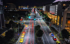 Light trail & Lights (Br@jeshKr) Tags: lighttrail brajesh singaporestreet singaporenight