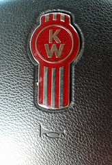Kenworth Steering Wheel (Adventurer Dustin Holmes) Tags: emblem logo horn steeringwheel kw kenworth