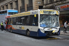 Stagecoach Western Buses 27213, SK15HBN. (EYBusman) Tags: stagecoach western buses scottish glasgow city centre enfield street bus coach crash accident alexander dennis enviro 300 fastlink 27213 sk15hbn eybusman