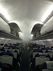 Clouds onboard aircraft (sladdha) Tags: clouds aircraft seats empty luggage travellers onboard