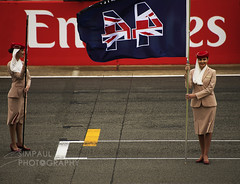 Pole Silverstone 2016 (mrpaul99) Tags: silverstone flag girls grid pole poleposition lewis hamilton f1 racing frontrow