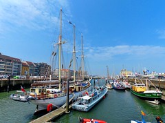 Oostende voor Anker 2016 (11) (Johnny Cooman) Tags: oostende vlaanderen belgi bel westvlaanderen belgium  westflanders ostend ostende landschap landscape flandern flanders flandes flandre flemishregion flhregion blgica belgique belgien belgia panasonicdmcfz200 aaa mast boot boat bateau oostendevooranker evenement zeilschip zeilboot schip ship sailingship segelschiff port porto puerto hafen harbour haven pano panorama reflectie reflection