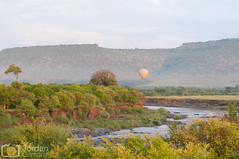 Balloon (grimaux.jordan) Tags: safari air hot balloon kenya africa savannah nature river mara morning scape sky