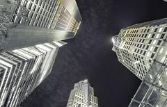 buildings lighting up the sky (Junwon Photography) Tags: longexposure nightphotography urban blackandwhite buildings photography nikon singapore skyscrapers citylife lookup explore nighttime nightsky desaturate urbanphotography nikonphotography