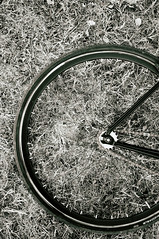 Rotation (everydayfuji) Tags: monochrome monochromatic blackandwhite cycling bicycling bike fixie fixedgear x100 fujifilm fuji