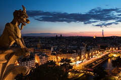 Paris Sunset from Notre Dame (Kelly DeLay) Tags: paris france sunset architecture sky bluehour colorful