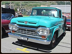 Ford F-100, 1960 (v8dub) Tags: ford f 100 1960 schweiz suisse switzerland pritsche up pick pickup american pkw voiture car wagen worldcars auto automobile automotive old oldtimer oldcar klassik classic collector