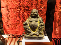 I met the Buddha 1 (flickrolf) Tags: red sculpture saint buddha fat monk belly streetleipzig