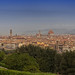 Florence panorama as seen from The Piazza Michelangelo