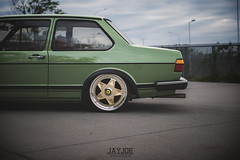 VW JETTA MK1 (JAYJOE.MEDIA) Tags: vw volkswagen low static jetta lower lowered slammed stance lowlife bagged airride mk1 ferrariwheels stanced