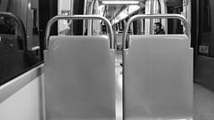 La soledad del ltimo tren (Mar Cifuentes) Tags: urbana fotourbana blancoynegro bnw noche night metro subte subway santiago santiagodechile chile