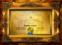 Have You Heard of the Arcanum? (SteveFrazierPhotography.com) Tags: certificate arcanum treyratcliff martinbailey cohort achievement award magical magicalacademyofartisticmastery