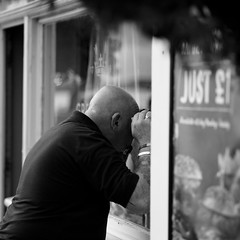 Just 1 (Andrew Malbon) Tags: menu transparency leica leicam9 m9 shopping pub skinhead bald portsmouth oldportsmouth hard thehard just1 90mmf2 90mm highiso handheld strongisland street streetphotography candid
