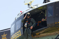 B. Fischer saluting photographer.... (PhantomPhan1974 Photography) Tags: ocsd orangecountysheriffsdepartment orangecounty danapointharbor duke6 uh1h n186sd