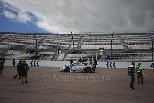 Tom Ingram on the grid at Rockingham, August 2016