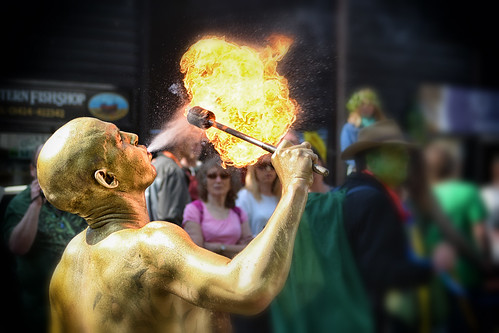 Fire Breather - 'Jack in the Green' May Day Celebrations, Hastings, May 2014