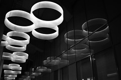 """Floating lamps"" (paulzons_photoz1) Tags: windows blackandwhite reflection lamps"