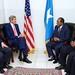 Secretary Kerry Sits with President Hassan Sheikh Mohamud and Prime Minister Omar Abdirashid Ali Sharmarke in Somalia