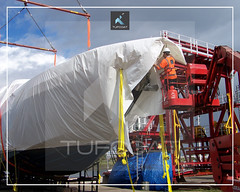 Princess 78 Yacht transport protection - Tufcoat Shrink Wrap