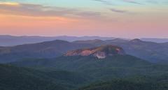 Looking Glass Sunrise (csnyder103) Tags: mountain sunrise northcarolina cliffs monolith blueridgeparkway blueridge appalachians lookingglassrock canonef24105mmf4lisusm plutonmonolith canoneos6d