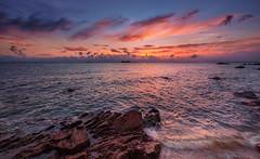 nostalgia (Ateens Chen) Tags: sunset sea sky cloud nature landscape hongkong nikon ateens eveningglow d810 afsnikkor1424mmf28ged