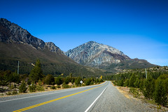 3er sentido (peladomal ) Tags: road blue sky patagonia mountains verde green argentina ruta ro strada carretera negro bluesky route estrada cielo andes sur bariloche montaas rodovia cieloazul surargentino