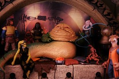 Jabba the Hutt (Felinomoruno) Tags: return jedi star wars jabba hutt oola luke skywalker tatooine science fiction movies toys figures collection photos dioramas boba fett han solo george lucas princess leia r2d2 bib fortuna jawas photographie palace retur best starwars neca 7 mc farlane dragon hottoys the jabbas