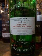 Rosebank 9yo Cadenhead's Authentic Collection 58.8% 1989 (eitaneko photos) Tags: tokyo bottle may collection single whisky 1989 cl authentic malt 2014 rosebank 588 9yo cadenheads
