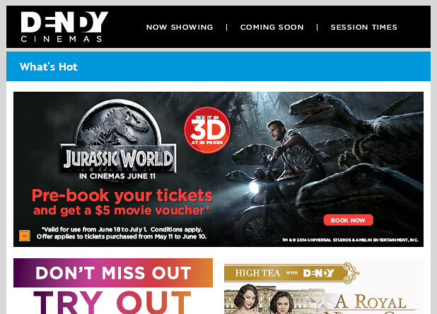JURASSIC WORLD Pre-Book $5 offer EDM
