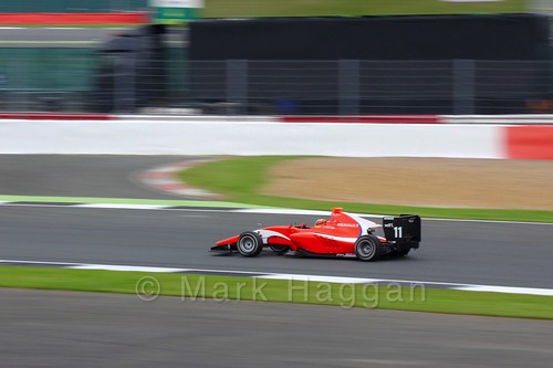 Jack Aitken in the Arden International car in qualifying for GP3 at the 2016 British Grand Prix