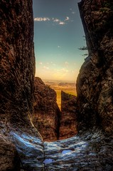 Chisos Mountain The  Window trail at Big Bend National Park