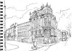 Londres, Aldwych the Strand. (Croctoo) Tags: croquis crayon croctoo croctoofr theatre london aldwych