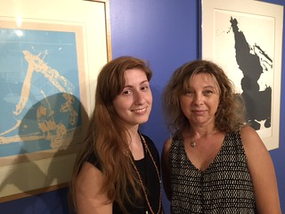 MDC museum of Art + Design tour Guide Cristie Alfonso  with Gabrielle Suarez with the contemporary art collection