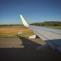 Morning flight (tedd4u) Tags: trees wing winglet boeing 738 737