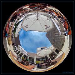 look to the sky (P.Hcherl) Tags: windischeschenbach bayern deutschland de ricoh thetas planet sky himmel blau blue johannistal kirwa 2016 oberpfalz upperpalatinate bavaria germany