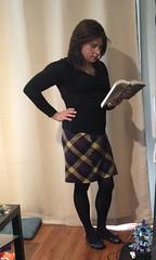 serious studies (JenniferB!) Tags: crossdress crossdresser crossdressed cd crossdressing transvestite transgender tgurl tgirl tg tights tranny trans gurl gg g gurly gurlish girlygurl gurlnextdoor girly gurlygurl girlish femme flats skirt secretary stockings enfemme lipstick ootd