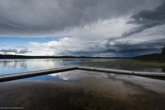 Pier at Viskasjön (MoWePhoto.de) Tags: schweden fredrika lake polfilter circular nikon lappland storm weather water rodenstock nikkor d750 1735 f28 clouds