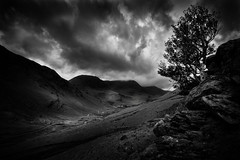 A Storm Rolls In (A C Hughes Photography) Tags: uk england blackandwhite storm tree nature beautiful clouds landscape photography natural britain lakedistrict honisterpass achughes