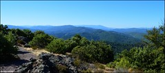 Montcalm, panorama nord (Mont  Lozre) (gunger30) Tags: saintjeandupin montcalm montagne cvennes gard campagne ciel panorama pointdevue horizon
