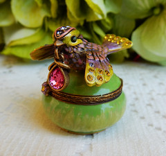 Jay Strongwater Trinket Box ~ Bird ~ Enameled ~ Swarovski Crystals (Donna's Collectables) Tags: jay strongwater trinket box ~ bird enameled swarovski crystals