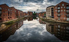 Leeds Reflections (jasonmgabriel) Tags: river aire leeds city cityscape reflection water buildings clouds scenery tree