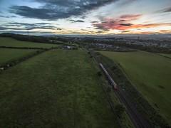 Sunset (thegoon15) Tags: sunset train scotland scotrail forth phantom grangemouth falkirk polmont dji