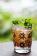 Masala Chai Julep (mohini :: mangopowergirl.com) Tags: light summer cold window sunshine bar evening daylight afternoon dof tea drink sweet bokeh indian spice mint dry whiskey delicious cocktail drinks american desi whisky iced soda spicy fusion bourbon chai happyhour spicey masala libations libation mocktail imbibe julep