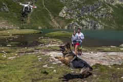Dron volando en Cabanasorda, Principat d'Andorra (kike.matas) Tags: canoneos6d kikematas canonef1635f28liiusm estanydecabanasorda canillo andorra andorre principatdandorra paisaje pirineos dron perro shiva lago agua montaas canon lightroom4