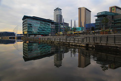 Media City (David Chennell - DavidC.Photography) Tags: reflection docks manchester still dock salfordquays calm lancashire salford mediacity manchesterdocks