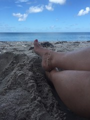 Beach View (WindJammer Photo) Tags: ocean vacation beach water foot sand toes july wife toering anklet iphone 2016